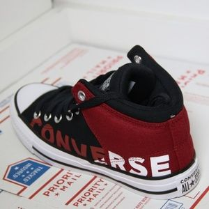 Converse Red Black Alley Brick High Tops NWT